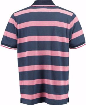 BLB MENS STRIPED POLO